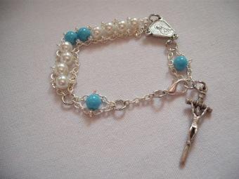 Our Lady of Lourdes Rosary Bracelet