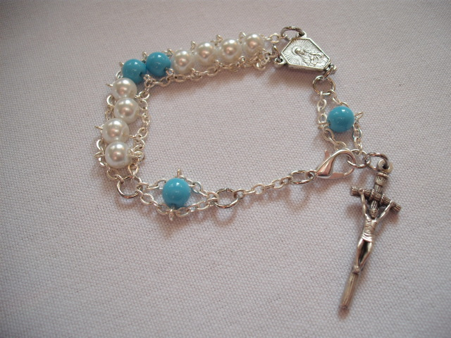 Our Lady of Lourdes Rosary Bracelet