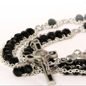 Black Benedictine Rosary