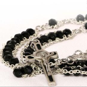 Black Benedictine Rosary